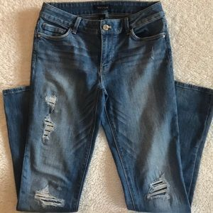 White House Black Market jeans worn twice, Slim 6R